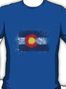 Colorado Flag Splatter T-Shirt