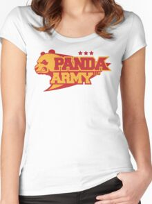 Panda Army FC Asian Football Club  Women's Fitted Scoop T-Shirt