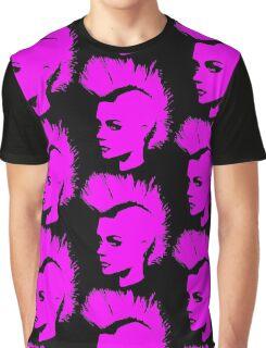 Punk Girl – pink unichrome Graphic T-Shirt