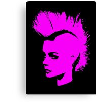 Punk Girl – pink unichrome Canvas Print
