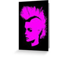 Punk Girl – pink unichrome Greeting Card