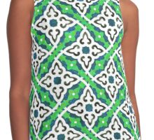 Burberry Green pattern style Contrast Tank