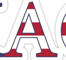 theta america greek letters Sticker