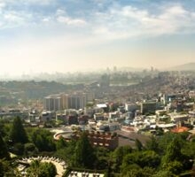 Early Morning Panorama of South Korea's Capital, Seoul Sticker