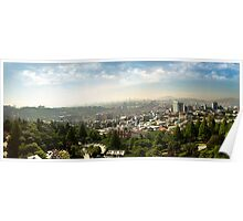 Early Morning Panorama of South Korea's Capital, Seoul Poster
