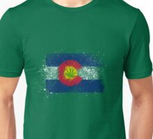 Colorado Flag Splatter w/ Cannabis Leaf Unisex T-Shirt