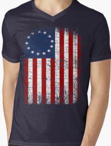 USA 13 Star 1776 Flag Mens V-Neck T-Shirt