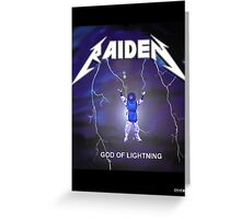Raiden the lightning Greeting Card