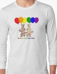 Skip and Pip (aka the Pride Bunnies) Pride 2016 Long Sleeve T-Shirt