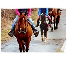 On Horseback Poster