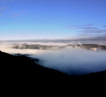 Fog in Crater  by cjcphotography