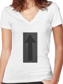 ARROW UP Women's Fitted V-Neck T-Shirt