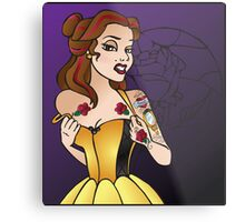 Disney Princesses with attitude - Belle Metal Print
