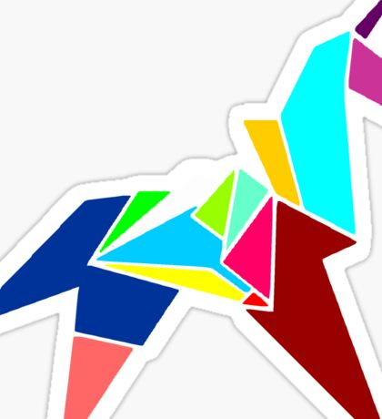 Unicorn Origami Sticker
