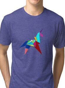 Unicorn Origami Tri-blend T-Shirt