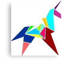 Unicorn Origami Canvas Print