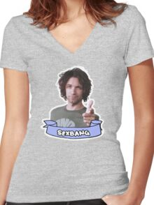 Danny Sexbang! Women's Fitted V-Neck T-Shirt