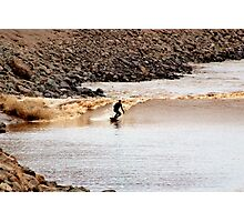 Riding the Tidal Bore Photographic Print