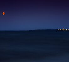 Moon over the Baltic Sea by MS-Photographie