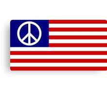 american flag peace symbol Canvas Print