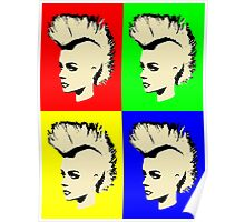 Punk Girl - Pop Art / Vers. I Poster