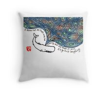 Moby Dick v.3 Throw Pillow