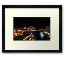 Sydney Harbour Bridge Vivid 2016 Framed Print