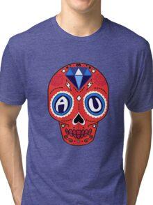 American University Sugar Skull Tri-blend T-Shirt