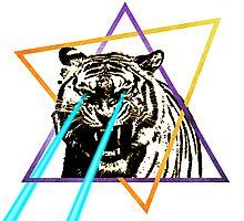 Laser Tiger Photographic Print