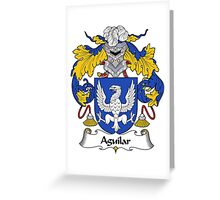 Aguilar Coat of Arms/Family Crest Greeting Card