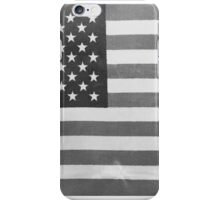 American Flag black-and-white  iPhone Case/Skin