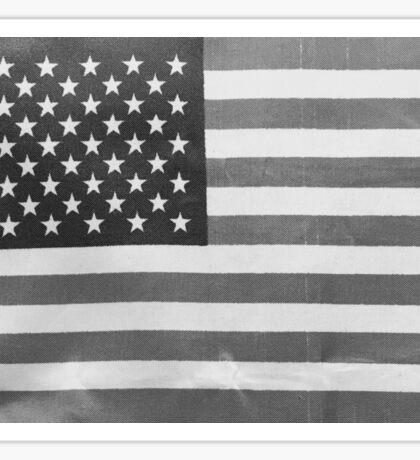 American Flag black-and-white  Sticker