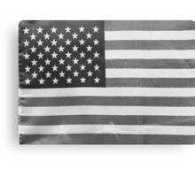 American Flag black-and-white  Canvas Print