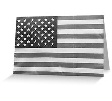American Flag black-and-white  Greeting Card