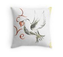Dove of love Throw Pillow