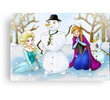 Frozen Olaf New Brother Canvas Print