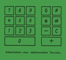 Addiermaschine Mercedes adding machine vintage 50s by burtward