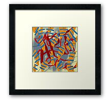 Art - abstract painting Framed Print