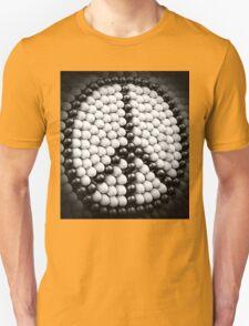 Black and White Symbolic Peace Sign Unisex T-Shirt