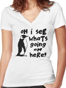 Billy Madison Quote - Oh I See What's Going On Here Women's Fitted V-Neck T-Shirt