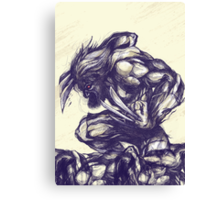 Other side of Wolverine Canvas Print