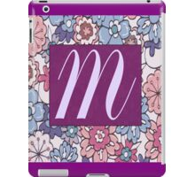 Monogram, Letter M iPad Case/Skin