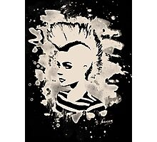 Punk Girl – bleached - white Photographic Print