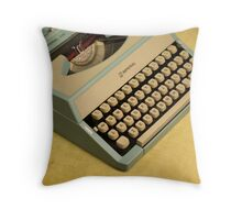 Vintage TAB-O-MATIC Antique Typewriter 1970's Throw Pillow