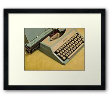 Vintage TAB-O-MATIC Antique Typewriter 1970's Framed Print