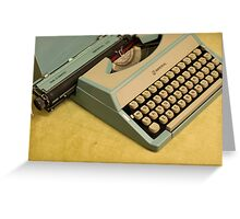 Vintage TAB-O-MATIC Antique Typewriter 1970's Greeting Card
