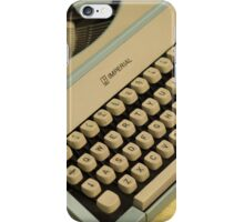 Vintage TAB-O-MATIC Antique Typewriter 1970's iPhone Case/Skin