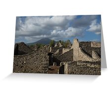 Vesuvius, Towering Over the Pompeii Ruins Greeting Card