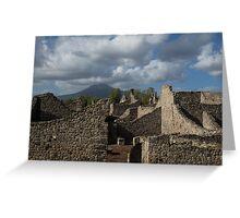 Vesuvius, Towering Over the Pompeii Ruins Greeting Card