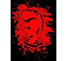 Punk Girl – bleached red Photographic Print